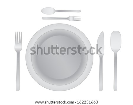 Dinner plate  with cutlery , eps 10