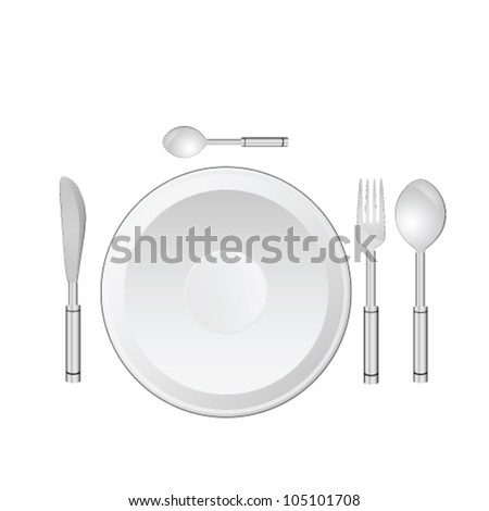 dinner service vector illustration on white background