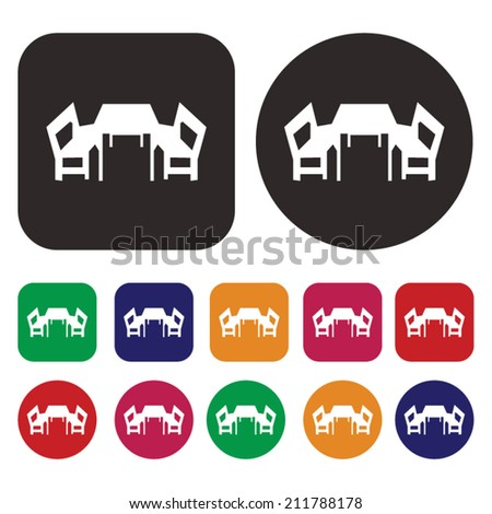 Dinner table icon - stock vector