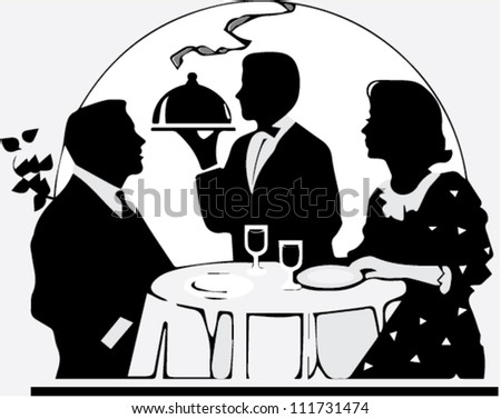 Dinners for two, vector - stock vector