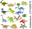 Dinosaur cartoon collection set - stock