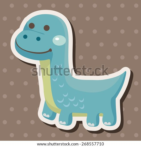 dinosaur cartoon theme elements - stock vector