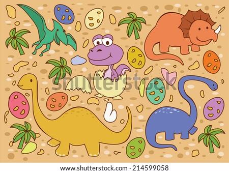 Dinosaur Collection  - stock vector