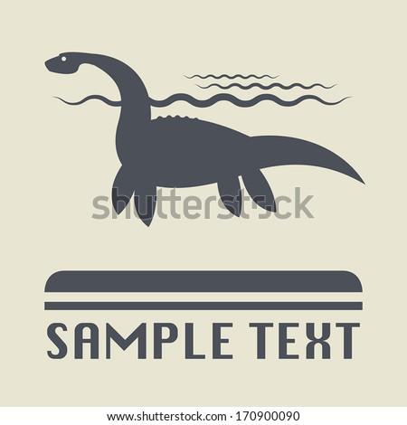 Dinosaur icon or sign, vector illustration - stock vector