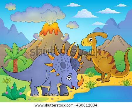 Dinosaur topic image 8 - eps10 vector illustration. - stock vector
