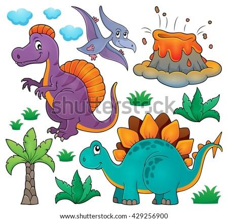 Dinosaur topic set 2 - eps10 vector illustration. - stock vector