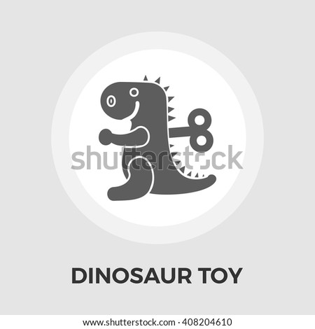 Dinosaur toy Icon Vector. Flat icon isolated on the white background. Editable EPS file. Vector illustration. - stock vector