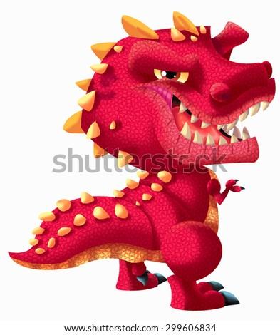 dinosaur-Tyrannosaurus rex - stock vector