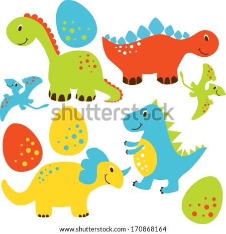Dinosaurs - stock vector