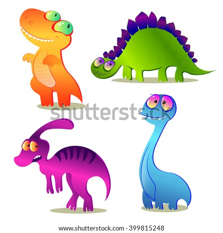 Dinosaurs vector set - stock vector