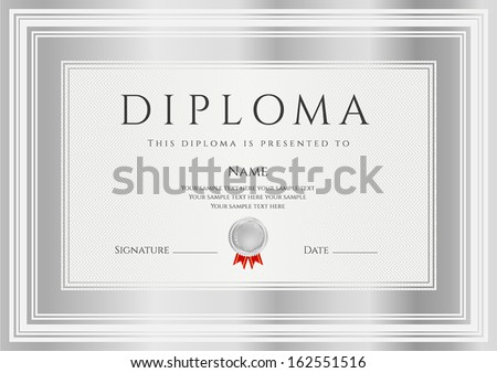 Diploma certificate completion design template background diploma certificate of completion design template background with silver frames diploma yelopaper Image collections