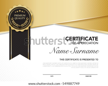Diploma certificate template black gold color stock vector 549887749 diploma certificate template black and gold color with luxury and modern style vector image yelopaper Choice Image