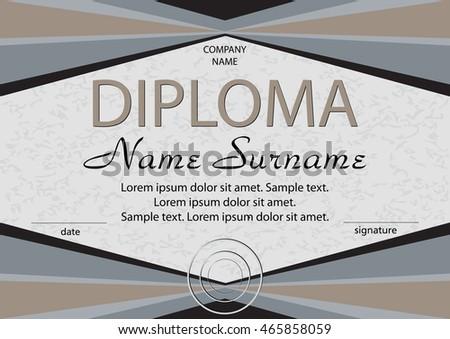 Diploma certificate reward winning competition award stock vector diploma or certificate reward winning the competition award winner vector illustration yelopaper Choice Image