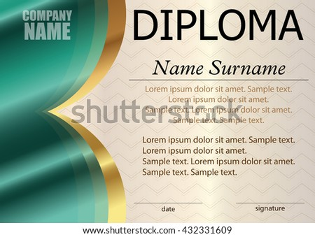 Diploma certificate template award winner reward stock vector diploma or certificate template award winner reward winning the competition the text yelopaper Images