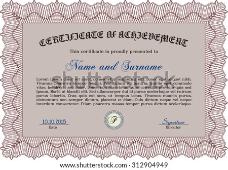 diploma retro design complex background vector stock vector  diploma retro design complex background vector pattern that is used in money and