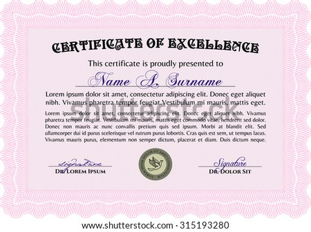diploma template certificate template vector pattern stock vector  diploma template elegant design complex linear background border frame