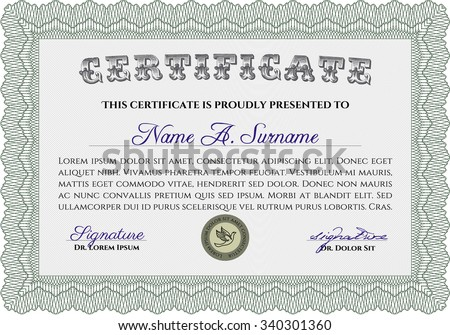 Diploma Template Certificate Template Vector Pattern Vector – Money Certificate Template