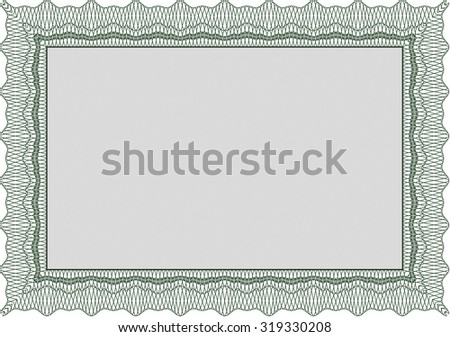 Diploma template. Vector pattern that is used in money and certificate.With great quality guilloche pattern. Lovely design.