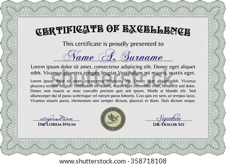 sky blue horizontal certificate template stock vector  diploma vector pattern that is used in currency and diplomas complex background nice