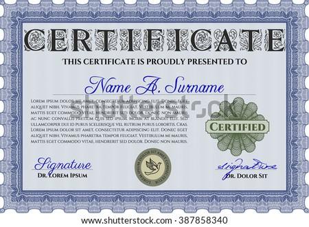 sample certificate diploma beauty design frame stock vector  diploma background border frame good design blue color
