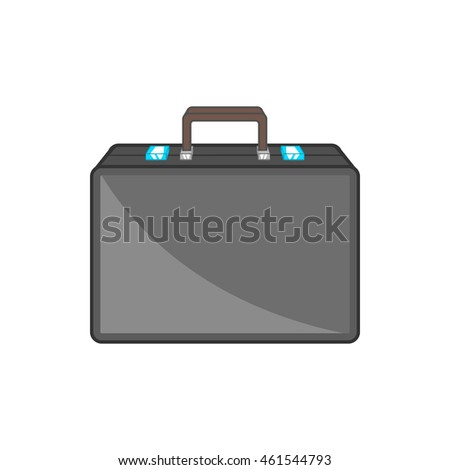 Diplomat icon in cartoon style isolated on white background. Bag symbol
