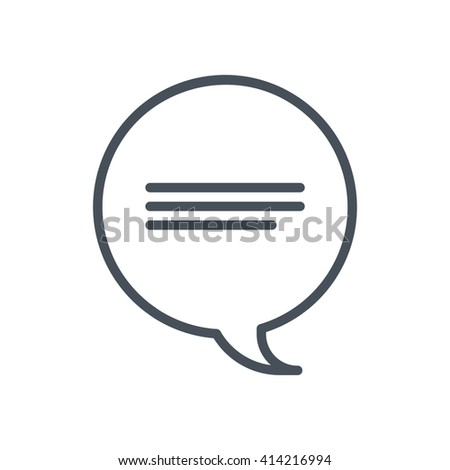 Direct message icon suitable for info graphics, websites and print media and  interfaces. Hand drawn style, pixel perfect line vector icon. - stock vector