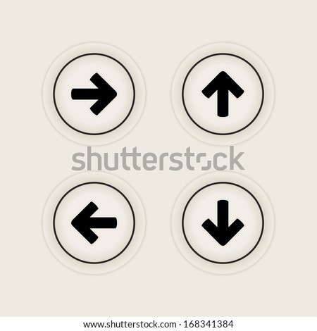 Direction arrow icons | button - stock vector