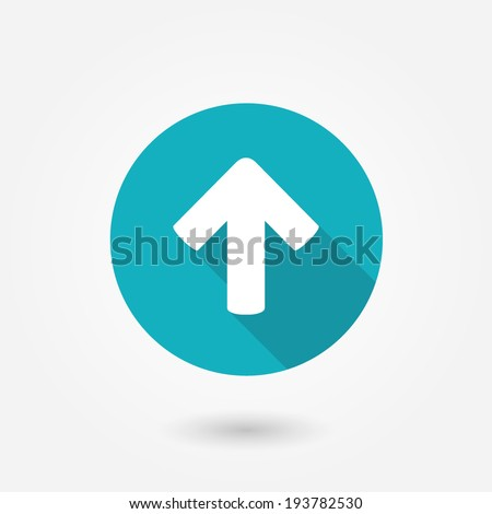 Direction arrow up icon isolated - stock vector