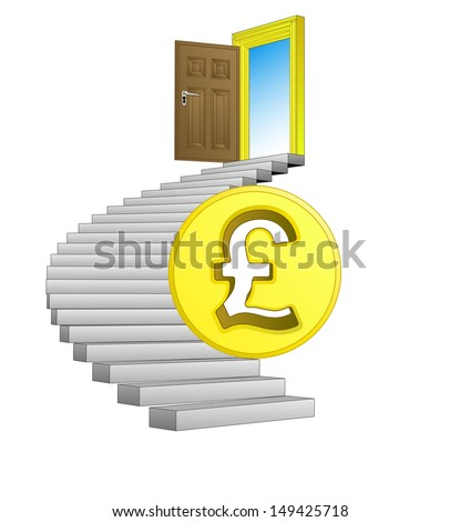 direction leading to business life with pound vector illustration