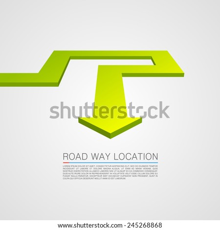 Direction of the trajectory path. Vector Illustration - stock vector