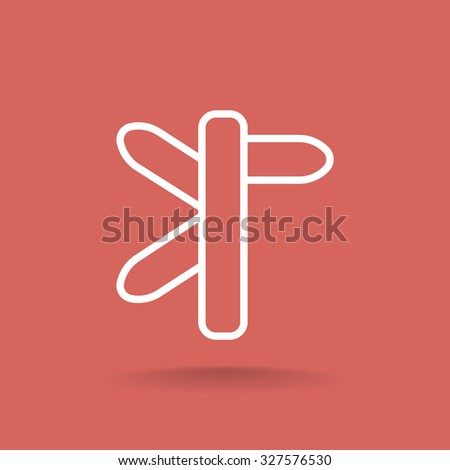 Direction road sign icon - stock vector