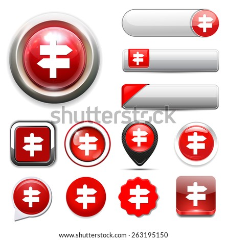 direction sign icon - stock vector
