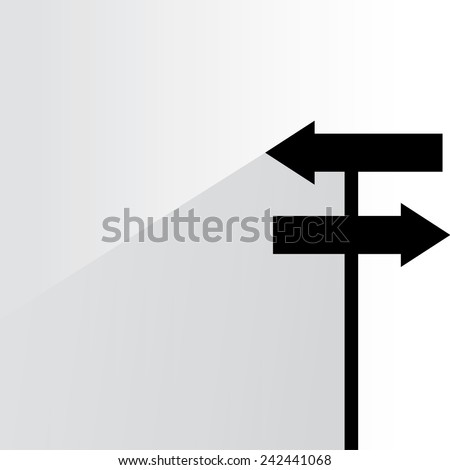 direction sign, road sign - stock vector