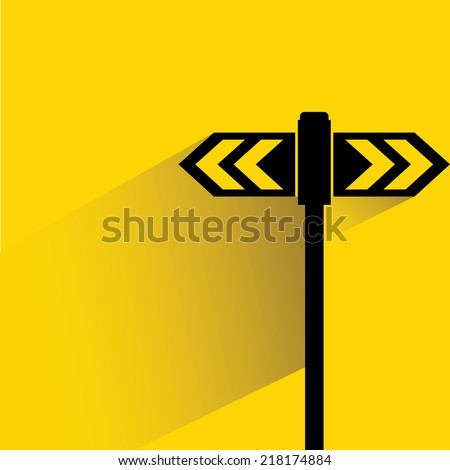 direction sign, street direction sign - stock vector