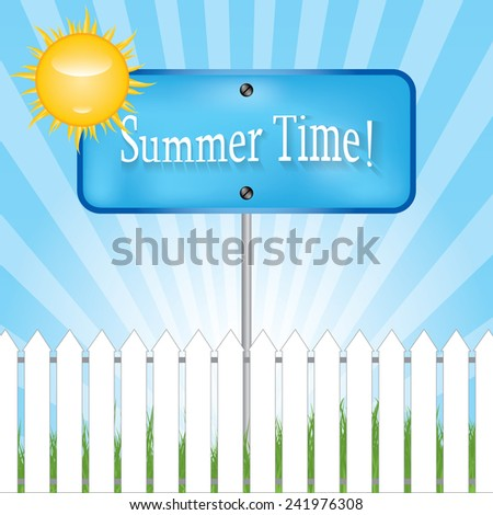 Direction sign with season .VECTOR - stock vector