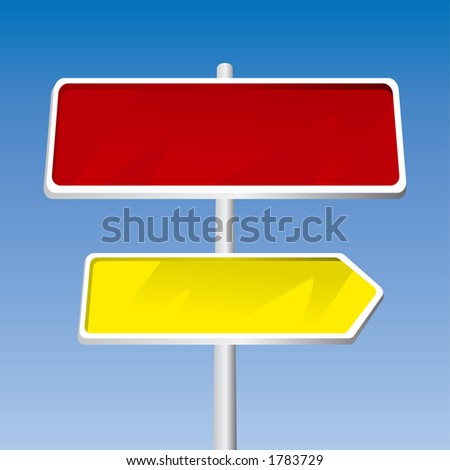 Direction Signs (Fully Editable Vector Image) - stock vector