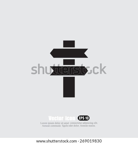 direction vector icon - stock vector