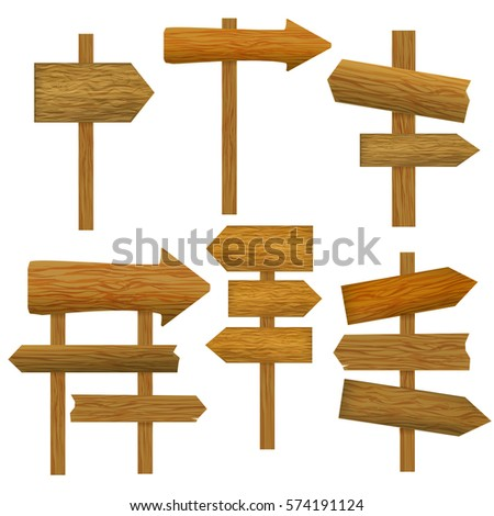 Wooden Signs Vector Icon Set Stock Vector 394814395 - Shutterstock