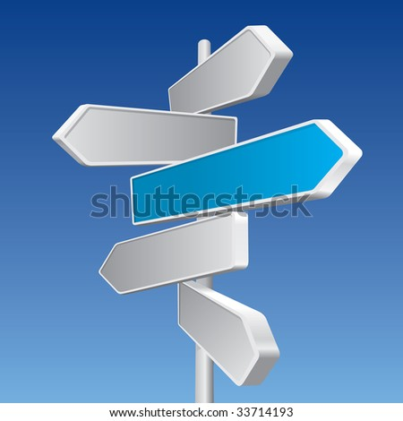 Directional Signs (vector). In the gallery also available XXL jpeg image made from this vector - stock vector