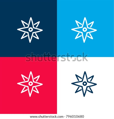 Directions Winds Star Hand Drawn Symbol Stock Vector 796010680