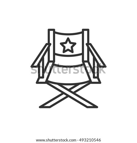 Director Chair Icon Line Design Directors Stock Vector 493210546