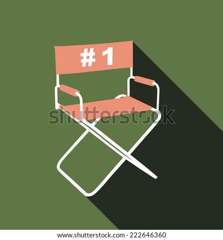 Directors chair - stock vector