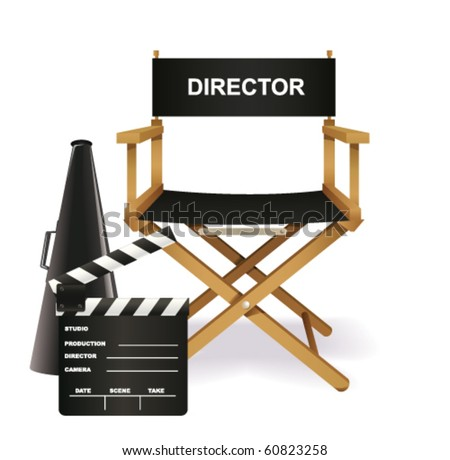 Directors chair - stock vector