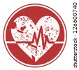 Dirt pulse heart - stock vector