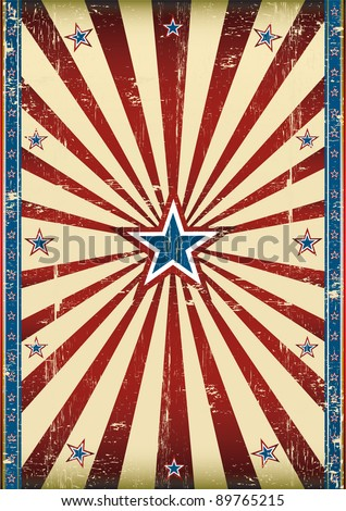 Dirty american poster. A grunge background with a texture for your advertising - stock vector