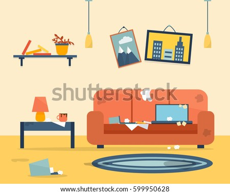 Cleaning Messy Room messy room stock images, royalty-free images & vectors | shutterstock