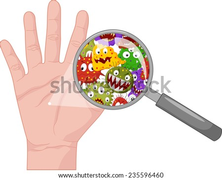 Dirty hand - stock vector