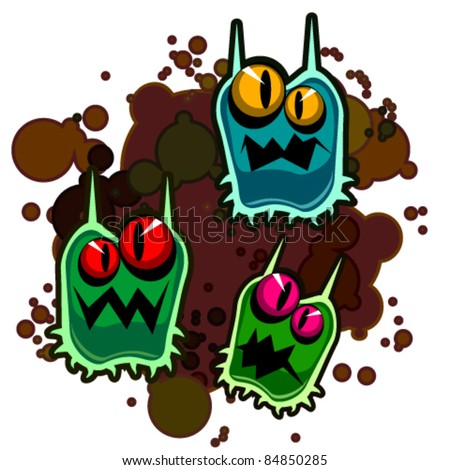 Dirty monsters - stock vector