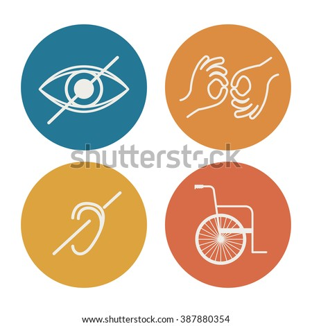 disability rights design, vector illustration eps10 graphic  - stock vector