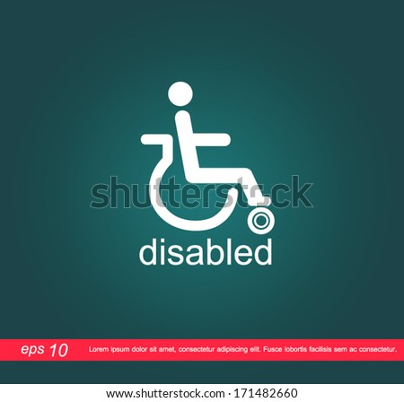disabled access vector icon - stock vector